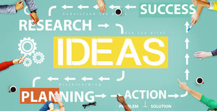 Концепция управления действия планирования успеха идей Стоковая Фотография