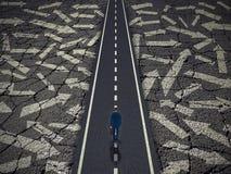 Концепция успеха в бизнесе пути решения стоковые фото