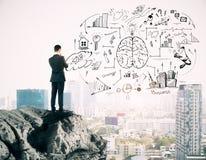 Концепция успеха и бредовой мысли стоковое изображение rf