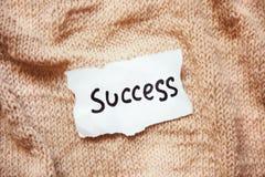 Концепция успеха и карьеры на белой бумаге с винтажной предпосылкой Стоковые Изображения RF