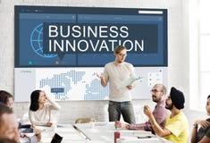 Концепция успеха роста анализа данных глобального бизнеса Стоковое Изображение RF