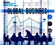 Концепция успеха роста диаграммы глобального бизнеса Стоковые Фотографии RF