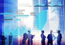 Концепция успеха роста стратегии планирования маркетинга цифров Стоковое Изображение