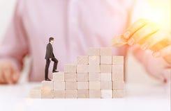 Концепция успеха с лестницей блока Стоковое Изображение RF