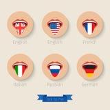 Концепция учить языки Стоковые Фотографии RF