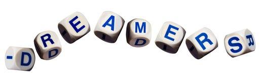 Концепция фантазеров используя изолированные письма правописания Стоковое Фото