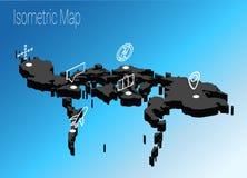 Концепция Филиппин карты равновеликая Стоковые Изображения