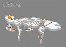 Концепция Филиппин карты равновеликая Стоковые Фото