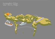 Концепция Филиппин карты равновеликая Стоковые Изображения RF
