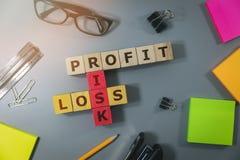 Концепция финансового риска в деле стоковая фотография rf