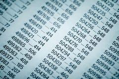 Концепция финансовых данных с номерами Стоковое фото RF