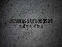Концепция финансов: Автоматизация бизнес-процессов на предпосылке стены grunge Стоковая Фотография RF