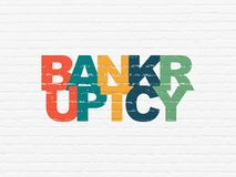 Концепция финансов: Банкротство на предпосылке стены Стоковые Фотографии RF