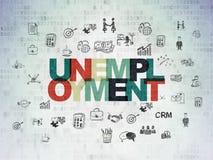 Концепция финансов: Безработица на предпосылке бумаги цифровых данных Стоковая Фотография RF