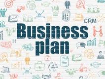 Концепция финансов: Бизнес-план на предпосылке стены Стоковое Изображение