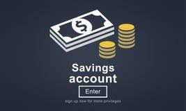 Концепция финансов денег сберегательного счета глобальная Стоковые Фото