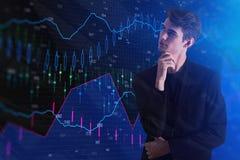 Концепция финансов и анализа Стоковое фото RF