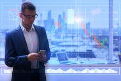 Концепция финансов и маркетинга Стоковое Фото