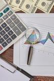 Концепция финансов и статистики Стоковое Изображение