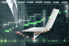 Концепция финансов и технологии Стоковая Фотография