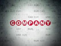 Концепция финансов: Компания на предпосылке бумаги цифровых данных иллюстрация штока