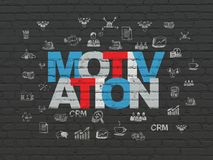 Концепция финансов: Мотивировка на предпосылке стены Стоковые Изображения