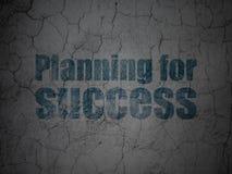 Концепция финансов: Планировать для успеха на предпосылке стены grunge