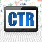 Концепция финансов: Планшет с CTR на дисплее Стоковые Фото