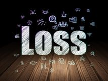 Концепция финансов: Потеря в комнате grunge темной Стоковое фото RF