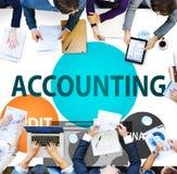 Концепция финансов проверки бухгалтерии экономическая прописная Стоковая Фотография RF