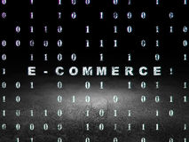 Концепция финансов: Электронная коммерция в комнате grunge темной Стоковое Изображение