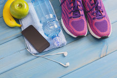 Концепция фитнеса здоровая Стоковая Фотография