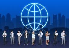 Концепция формы планеты глобального бизнеса глобуса Стоковая Фотография