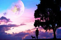 Концепция фото для Silhouetted и депрессии Стоковое Изображение