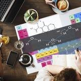Концепция химии атома эксперименту по формулы Стоковое Изображение