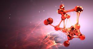 Концепция химиката исследования молекулы или атома nano безшовная анимация 8k 4k UHD петли сток-видео