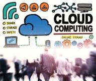 Концепция хранения интернета сети соединения облака вычисляя Стоковые Фото