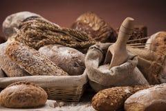 Концепция хлебопекарни, свежий хлеб стоковые фотографии rf