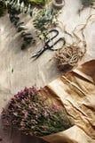 Концепция цветения романтичного пука цветка букета Bridal Стоковая Фотография
