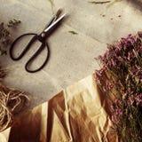 Концепция цветеня букета стиля флористического цветка флориста прелестная Стоковые Изображения RF