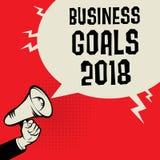Концепция 2018 целей бизнеса Стоковая Фотография RF
