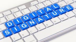Концепция цифровой подписи бесплатная иллюстрация