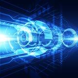 Концепция цифровой технологии абстрактного соединения вектора футуристического голубого высокая иллюстрация штольни предпосылки б Стоковые Фото