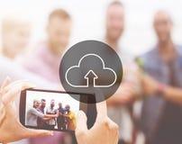 Концепция цифров перехода интернета хранения облака вычисляя Стоковое Фото