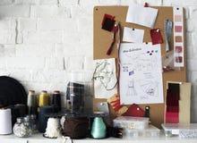 Концепция чертежа эскиза дизайна моды Стоковое Фото