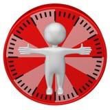 Концепция: человеко-час человек 3d и циферблат иллюстрация вектора