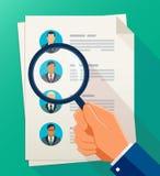 Концепция человеческих ресурсов управления, исследования профессиональных сотрудников Стоковое Изображение RF