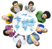 Концепция человеческих ресурсов экспертизы карьер работы занятия Стоковые Изображения