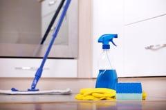 Концепция чистки кухни Стоковые Фото