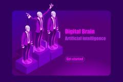 Концепция шаблона искусственного интеллекта для изображений героя
